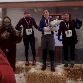 1st, 2nd, and 3rd place female racers 20-29