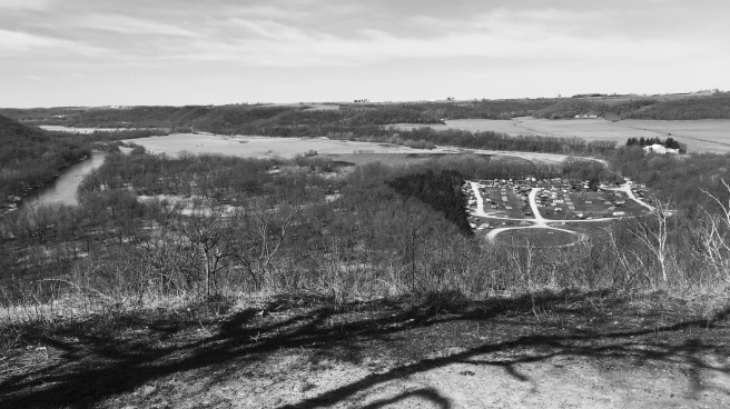 A view from atop the bluffs, Zumbro Bottoms River Management Unit