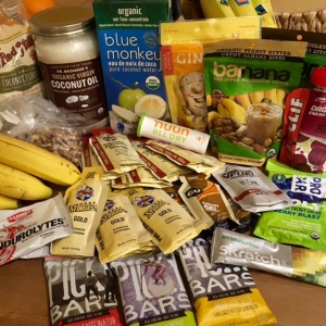 Assortment of race nutritional items
