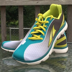 A pair of Altra One 2.5 running shoes