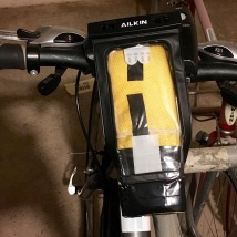 Homemade iPhone bike mount photo series from various angles