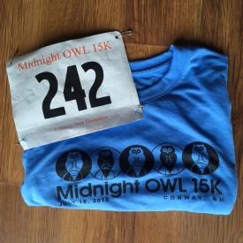 Midnight Owl, bib and t-shirt