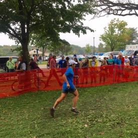 Running toward the finish line