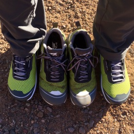 Two pairs of Altra Lone Peaks