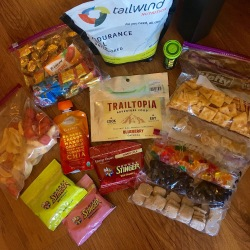 Tailwind, crackers, gum, candies, dehydrated fruit, and more
