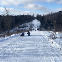 Tuscobia Winter Ultra 2017, sledding!