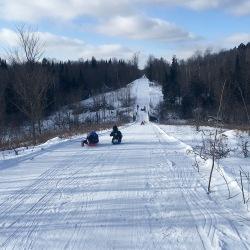 Tuscobia Winter Ultra 2017, sledding!