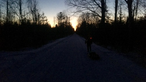 Tuscobia Winter Ultra 2017, sunset